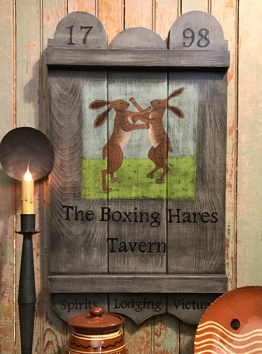 KH-1976 The Boxing Hares Tavern Sign