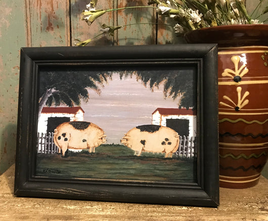 MKM-LP-S Little Piggies Framed Print