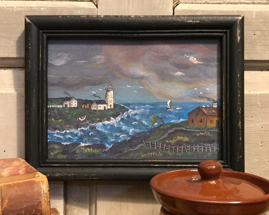 MKM-SL-S Stormy Lighthouse Framed Print