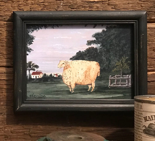 MKM-1902Sm Happy Ewe Framed Print
