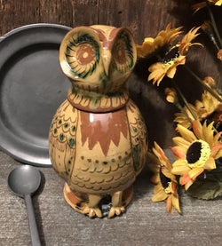 EJS-16 Yellow Pottery Owl Jug & Cup