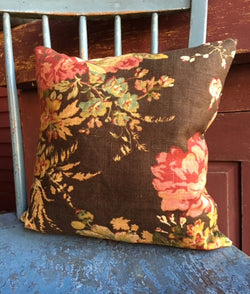 NV-PIL-4 Brown Floral Pillow