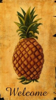 CWP-WPA Pineapple Welcome Board Art