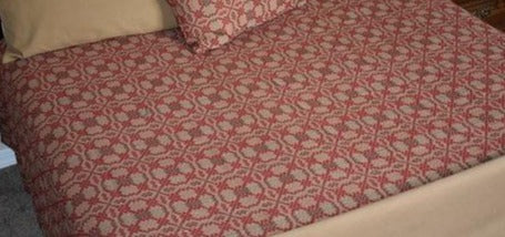 PC-QCO-PK-R Red Patriot's Knot Queen Coverlet