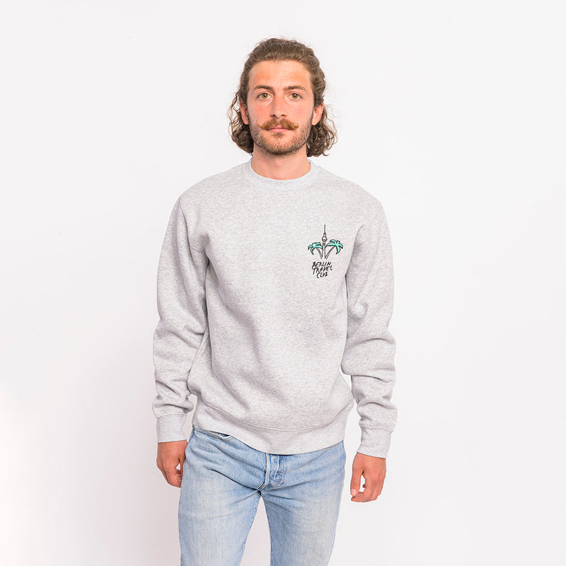 "> Sweater ""Berlin Palms"" - heather grey"