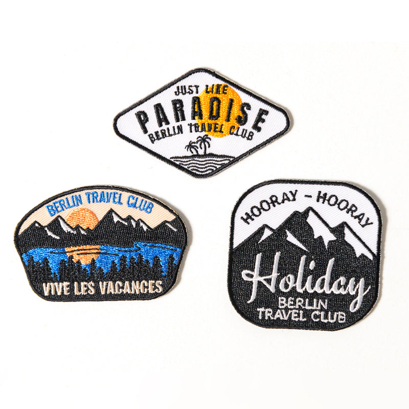 Iron On Patches - Set of 3 - mixed color