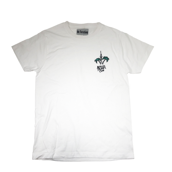 "T-Shirt ""Berlin Palms"" - white"