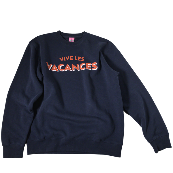 "Sweater ""Vice les Vacances"" - navy blue"