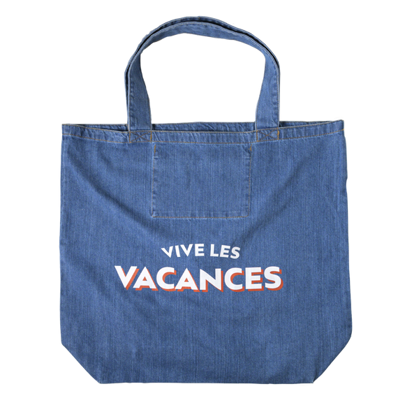 "Shopper ""Vive les Vacances"" - denim blue"