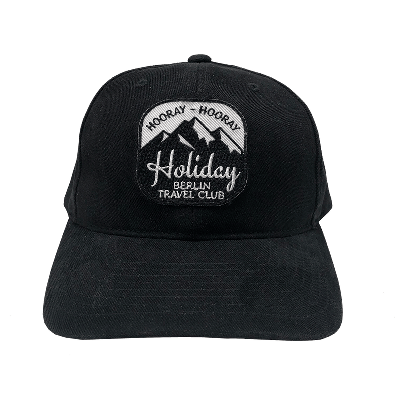"Cap ""Holiday"" - FLEXFIT Brushed Cotton Twill – black"
