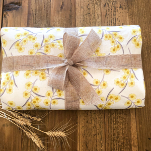 Blossoming Golden Wattle Tablecloth