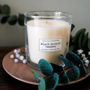 Black Orchid & Amber Handmade Soy Candle