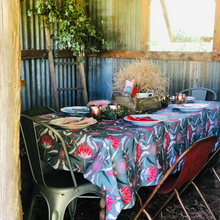 Load image into Gallery viewer, Cockatoo & Blossom Tablecloth