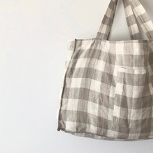 Load image into Gallery viewer, Linen Tote Bag - Florence Check