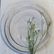 Load image into Gallery viewer, Matte White Stoneware Plates - Set of 3