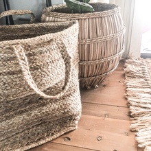 Load image into Gallery viewer, Jute Natural Basket