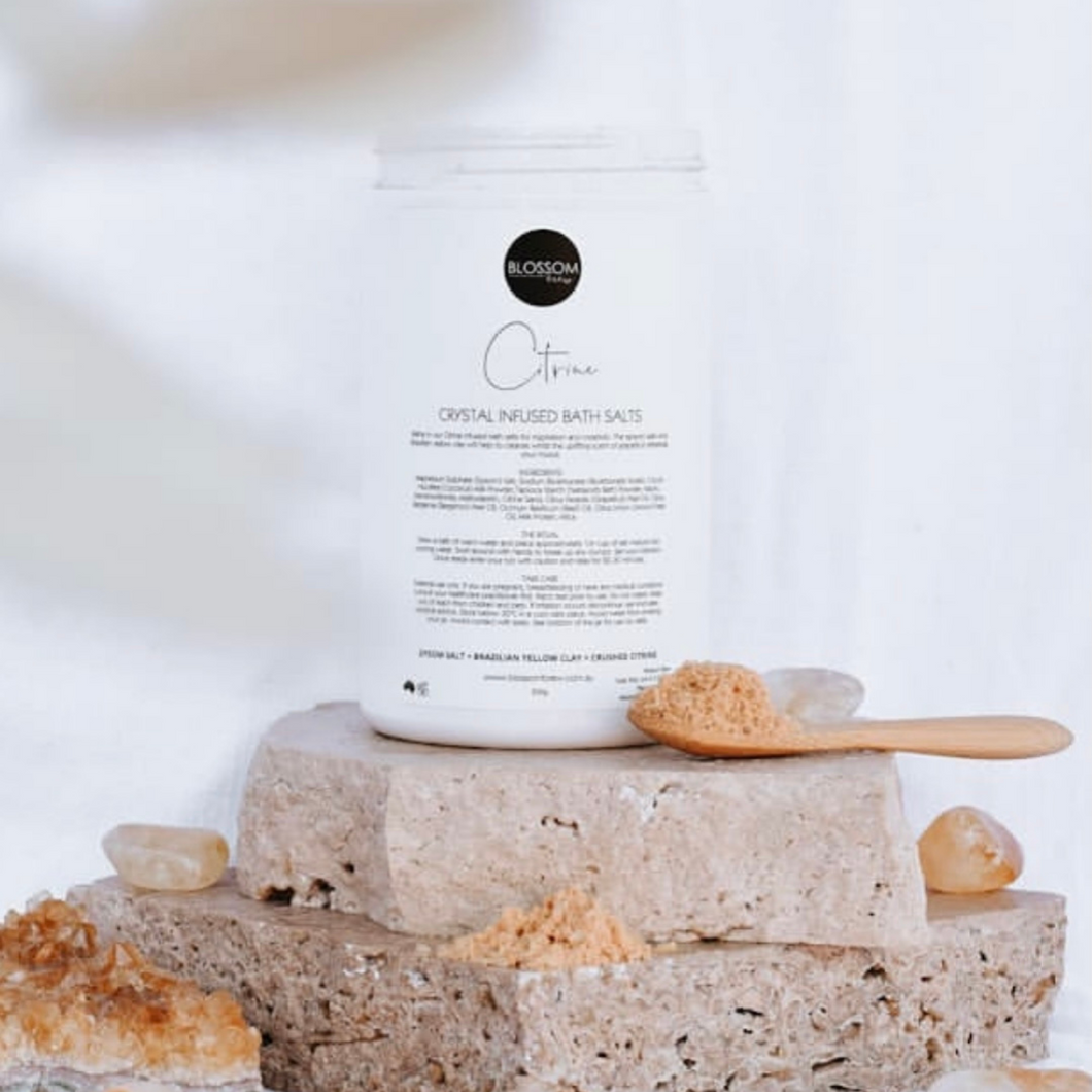 Citrine Crystal Infused Bath Salts