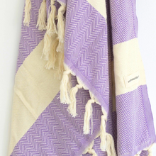Load image into Gallery viewer, Turkish Towel - ZigZag Lilac