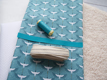Load image into Gallery viewer, Booties Fabric Pack - Turquoise Cranes