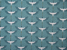 Load image into Gallery viewer, Cranes Printed Cotton in Turquoise £12 p/m