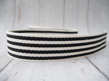 Load image into Gallery viewer, 38mm Stripe Webbing - Black & White