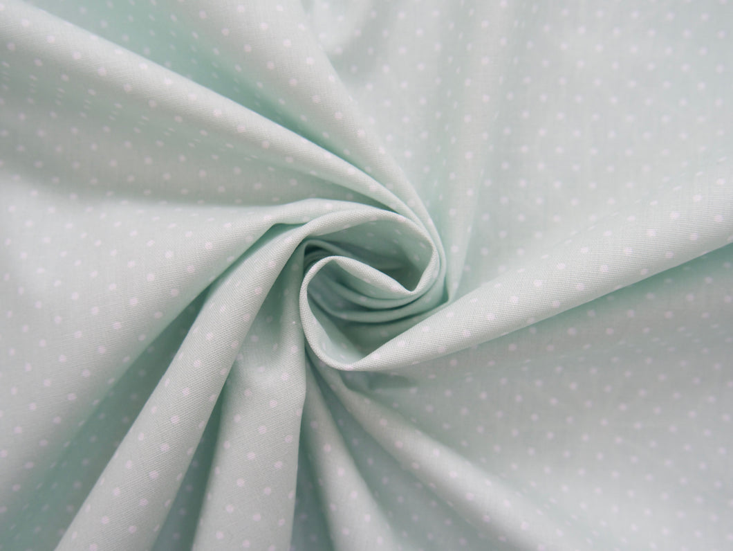 Pin-Spot Printed Cotton, Mint £8 p/m