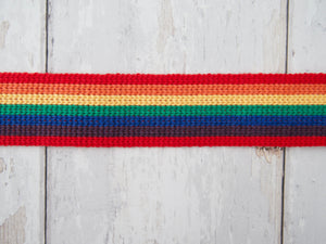 34mm Rainbow Stripe Webbing