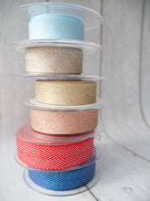 Load image into Gallery viewer, 25mm Chevron Sparkle Ribbon