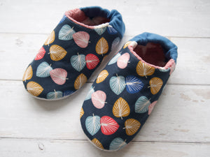Slippers Fabric Pack - Pink Leaves