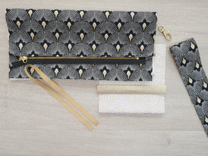 Deco Clutch Bag Kit - Black & Ivory