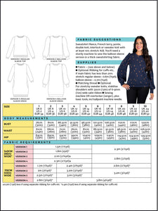 Sweatshirt Sew-Along Kit - 'Sportar' Loop Back in Grey Marl