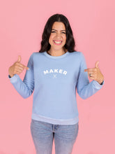 Load image into Gallery viewer, Sweatshirt Sew-Along Kit - Fleece Back in Magenta