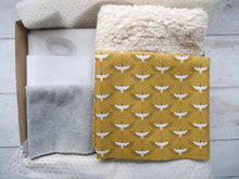 Load image into Gallery viewer, Slippers Fabric Pack - Cranes, Mustard