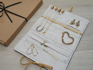 Jewellery Roll - Golden Bees