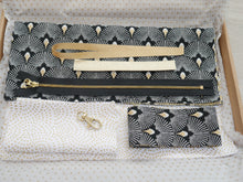 Load image into Gallery viewer, Deco Clutch Bag Kit - Black & Ivory