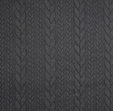 Load image into Gallery viewer, Cable Jacquard Knit Fabric, Black, £15.00 p/m