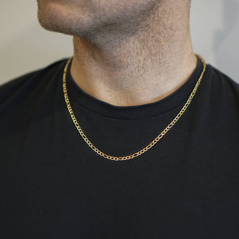 Xavier Gold Figaro Chain Necklace