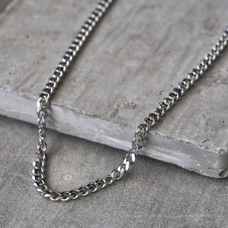 Josh Stainless Steel curb Chain Necklace