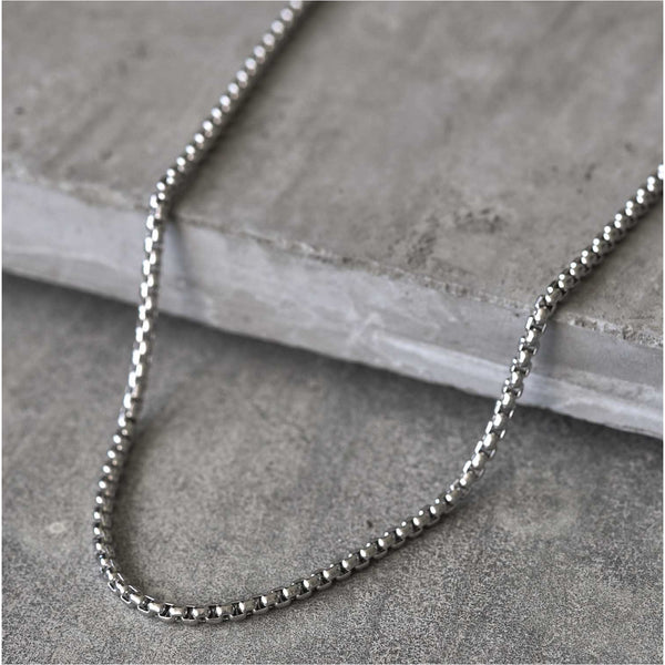 Saar silver stainless steel necklace for men