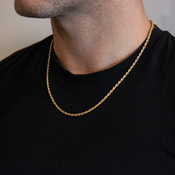 Nixon 18k plated rope Chain Necklace
