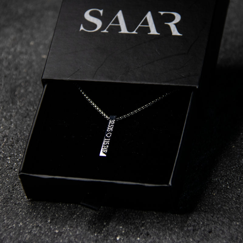 engraved necklace saar jewellery