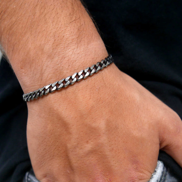 Oliver 5mm Stainless Steel cuban link bracelet