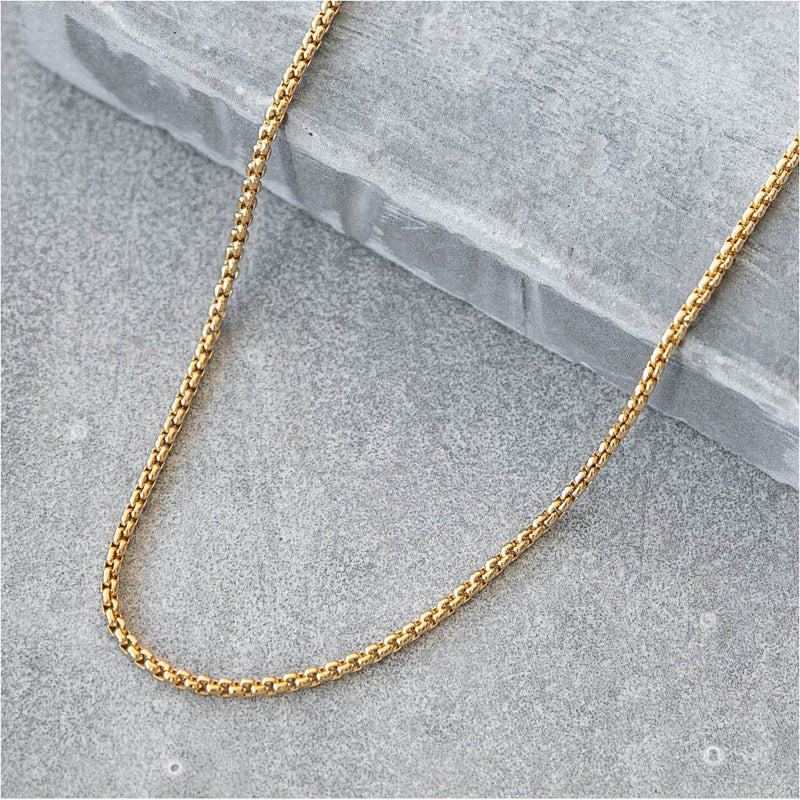 saar co 18k gold necklace for men