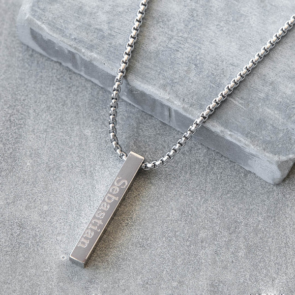 Tai Stainless Steel Box Chain Necklace