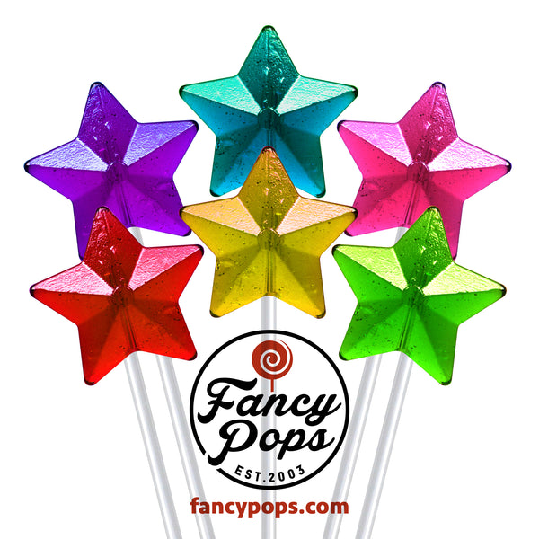 "Fancy Pops - ""Star"" long-stem lollipops - 100 Pieces"