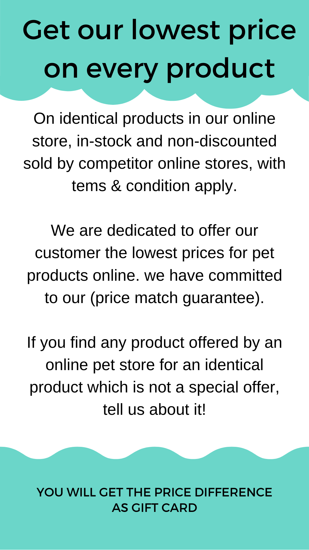 shopthepaws price match guarantee