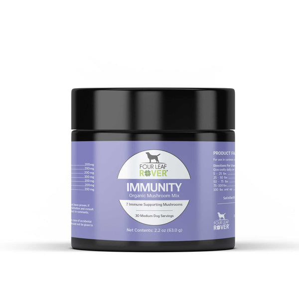 Four Leaf Rover Immunity Organic Mushroom Blend | Supplement | Four Leaf Rover - Shop The Paws