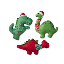 Load image into Gallery viewer, Fringe Studio Mini Christmas Dinos Dog Toy | Toys | Fringe Studio - Shop The Paws