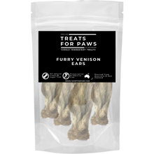 Load image into Gallery viewer, Treats For Paws - Furry Venison Ears | Treats | TreatsForPaws - Shop The Paws