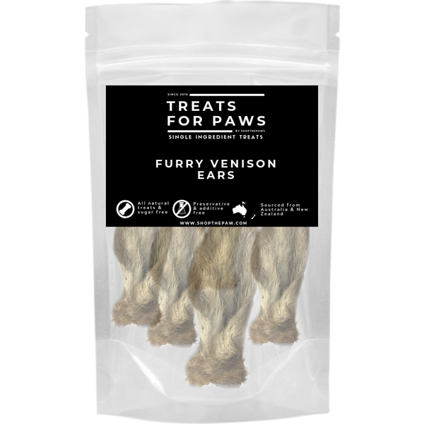 Treats For Paws - Furry Venison Ears | Treats | TreatsForPaws - Shop The Paws